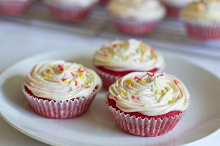 Beetroot and vanilla cupcakes 2 Sept 2015