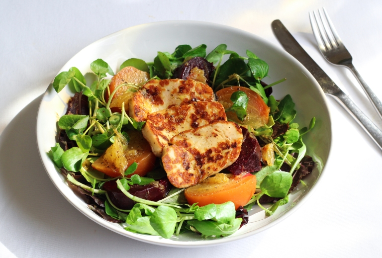 Beetroot and halloumi salad 1 Sept 2015