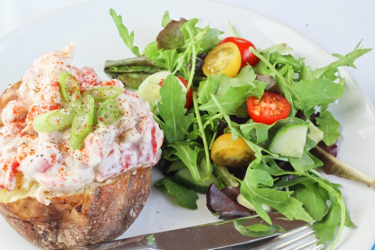 Crayfish jacket potato
